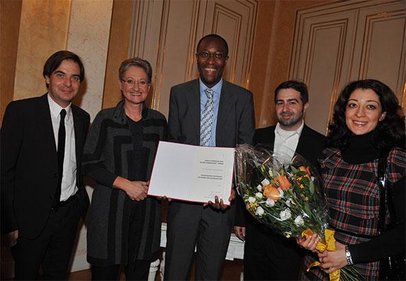 Rainer Nowak, BM Claudia Schmied, simon INOU, Erich Kocina, Nasila Berangy - ©Die Presse/Michaela Bruckberger