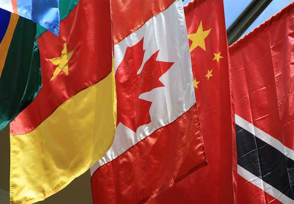 Flags of the World - Cameroon, Canada, China, and Trinidad and Tobago - ©flickr.com/Wyoming_Jackrabbit