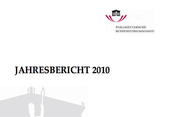 Jahresbericht 2010 - Cover