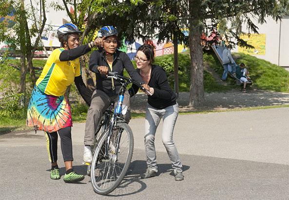 Beim Radfahren lernen - ©Stadt Graz/Fischer