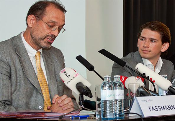 Heinz Fassmann Leiter des Expertenrates und Staatssekretär für Integration Sebastian Kurz