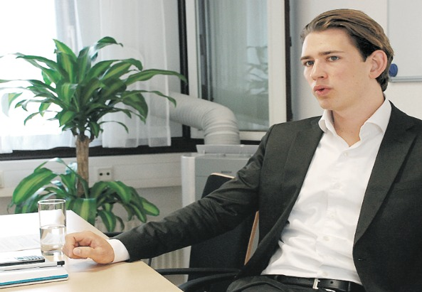 Sebastian Kurz während des Interviews - ©Asma Aiad