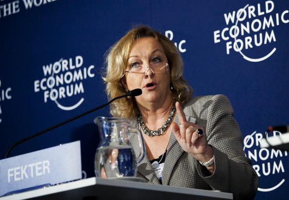 Maria Fekter © World Economic Forum/ Heinz Tesarek (flickr)