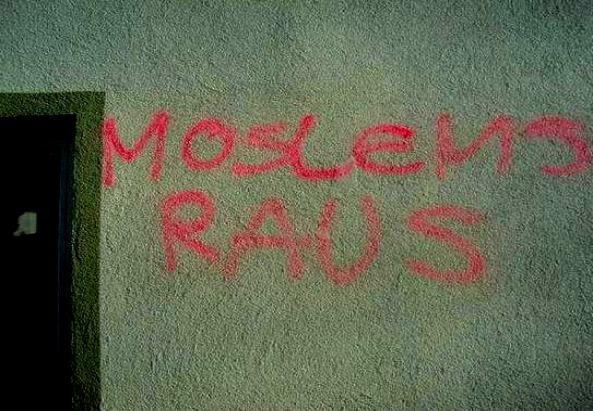 Moslems raus - Beschmierungen in Tirol - ©ATIB Schwaz