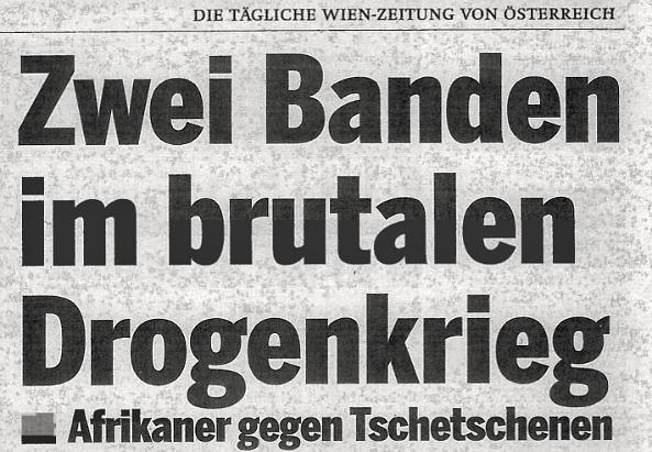 """Zeitungsausschnitt der Tageszeitung """"Österreich"""""""