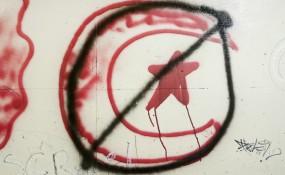 Türkenfeindliches Graffiti (c) M. Flener
