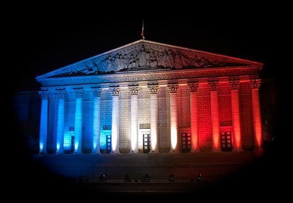 Palais Bourbon in Frankreich - Sitz der Assemblée Nationale