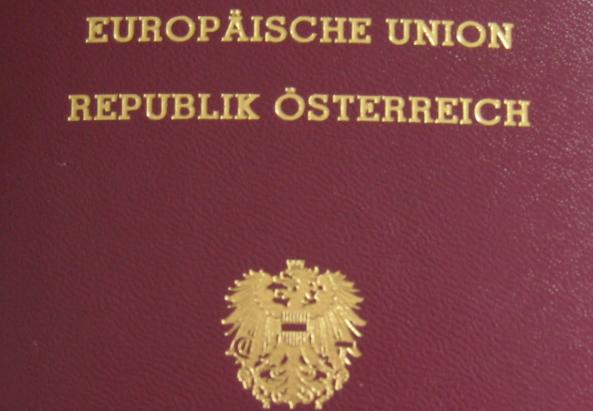 Abbild eines österreichischen Reisepasses