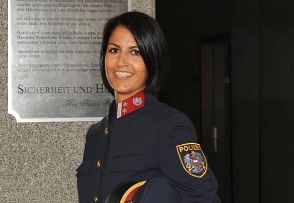 Polizeisprecherin Camellia Anssari