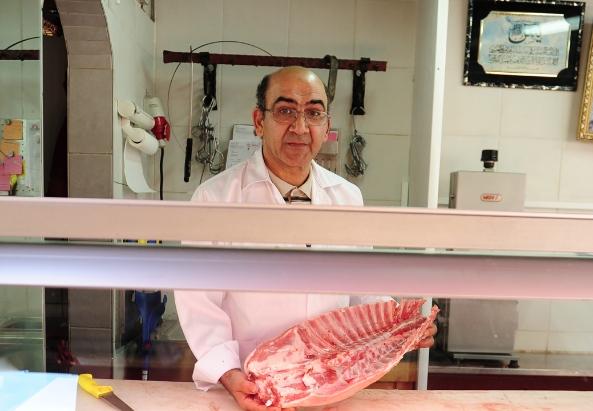 Fleischhauer Mossad Mohamed in seinem Geschäft im Wiener 10. Bezirk - ©Asma Aiad
