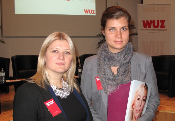Tatjana Kukić-Jank (Obfrau) und Una Jakić (PR) des Vereins WUZ