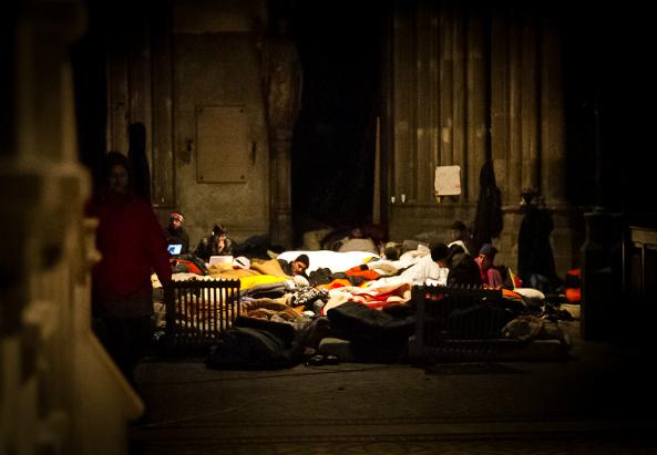 Asylwerber in der Votivkirche