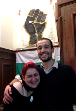 Kristian Ivanov und eine Mitorganisatorin der Occupy Bewegung an der Universität Sofia