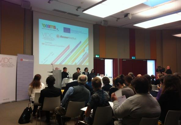 Panel 1, mit Romani Rose, Cornelia Kogoj, Mirjam-Angela Karoly, Gilda Horvath