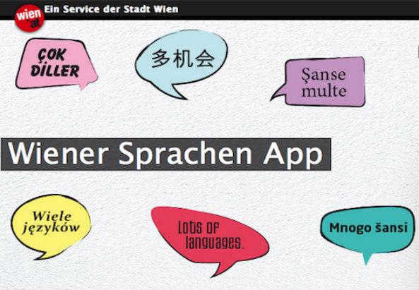 WienerSprachenApp - Screenshot der Webseite