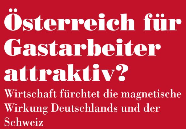 Plakataktion der Initiative Minderheiten - Text stand in der Tageszeitung Die Presse am 6.2.1962
