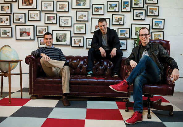 © Airbnb Gründer: Joe Gebbia, Brian Chesky und Nathan Blecharczyk