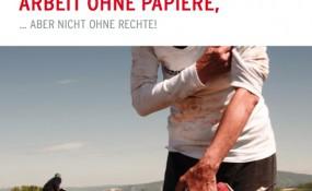 """UNDOK.at - Cover von Rechtsbroschüre """"Arbeit ohne Papiere … aber nicht ohne Rechte!"""""""
