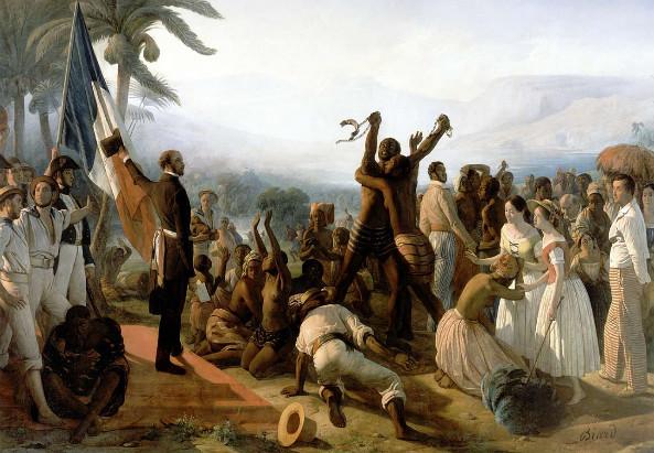 Abschaffung der Sklaverei in den französischen Kolonien 1848, Bild von Auguste François Biard (1849)