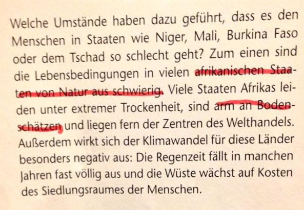 Auszug eines Schulbuchs in Österreich