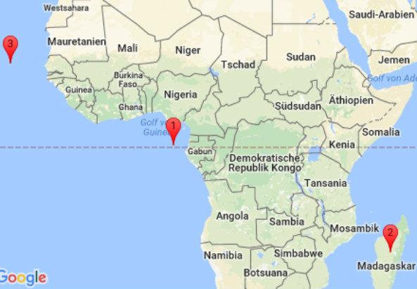 Madagaskar, Sao Tome & Pricipe, Kap Verden