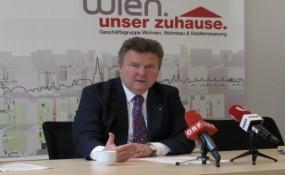 Wohnbaustadtrat Michael Ludwig erklärt das Wiener Wohn-Ticket. Foto: M-MEDIA/Konstantin Auer
