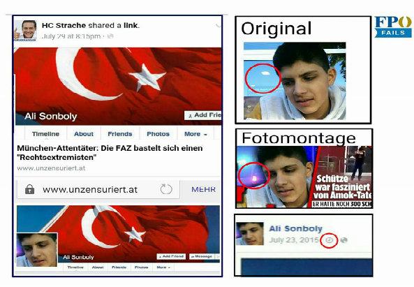 So wurde das Profil gefälscht. Foto: FPÖ Fails auf Facebook: https://www.facebook.com/fpoefails/